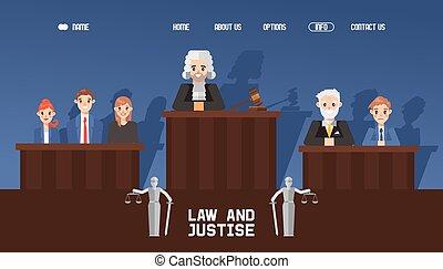 button., hogar, vector, esperar, jurado, tela, tribunal,...