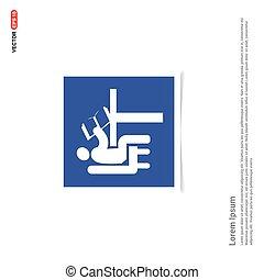 button icon - Blue photo Frame