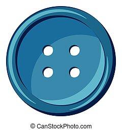Button icon, cartoon style
