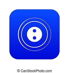 Button icon digital blue