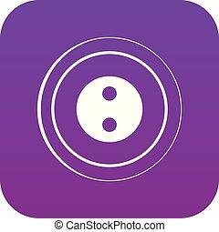 Button icon digital purple