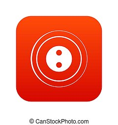 Button icon digital red