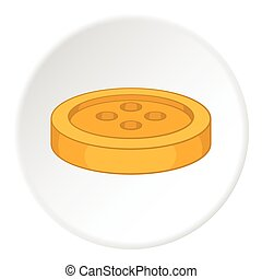 Button icon, flat style