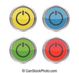 button icon illustrated in vector on white background