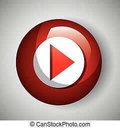 button icon live streaming design graphic