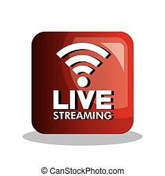 button icon live streaming design graphic