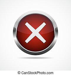 button., illustration., 交差点, 印, ベクトル, 赤