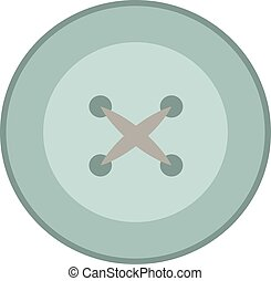 Button, illustration, vector on white background.