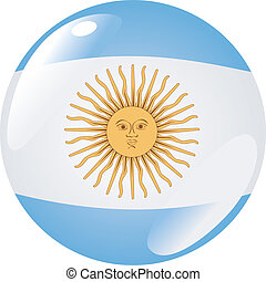 button in colors of Argentina