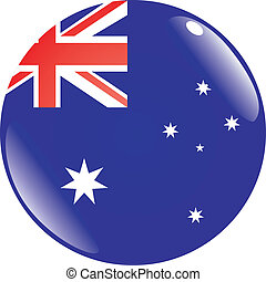 button in colors of Australia