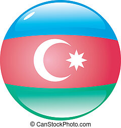 button in colors of Azerbaijan