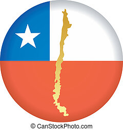 button in colors of Chile