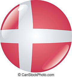 button in colors of Denmark
