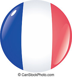 button in colors of France