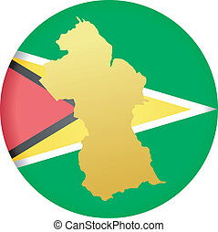 colors of Guyana - button in colors of Guyana