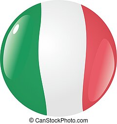 button in colors of Italy