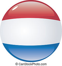 button in colors of Netherlands