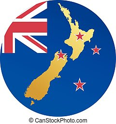 colors of New Zealand - button in colors of New Zealand