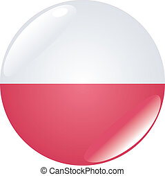 button in colors of Poland