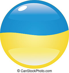 button in colors of Ukraine
