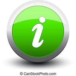 button info 2d green