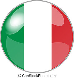 button italy - illustration of a button italy