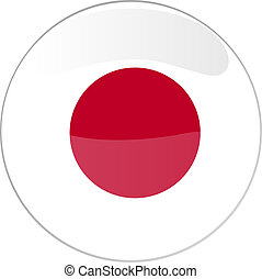 button japan - illustration of a button japan