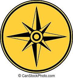 button., kompas