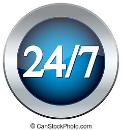 """button labeled """"24/7''"""