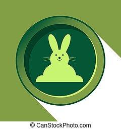 button - light green Easter bunny