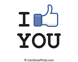 button like facebook, the most popular social network in the...