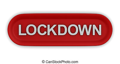 button lockdown on white background. Isolated 3D illustration