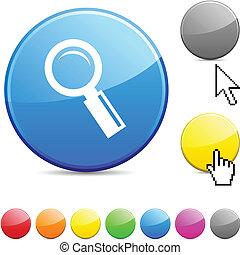button., lustroso, procurar