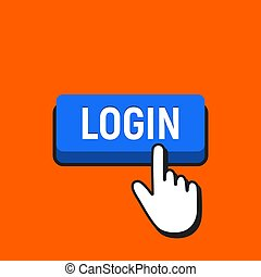 button., main, curseur, login, déclics souris
