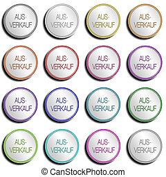 Button Minimal AUSVERKAUF - Shiny metal Button with...