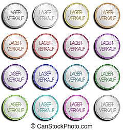 Button Minimal LAGERVERKAUF - Shiny metal Button with...
