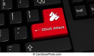 button., mouvement, 71., attaque, clavier ordinateur, rotation, ddos