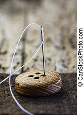 Button Needle and Thread
