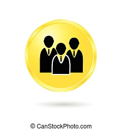 button of business man vector