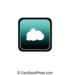 button of cloud with sun vector illutration