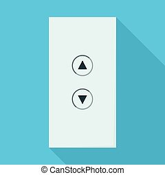 Button of elevator vector icon. Flat vector icon isolated on white background button of elevator .