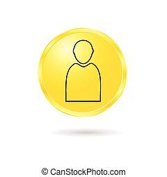 button of man vector