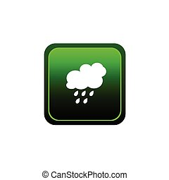 button of rain green vector