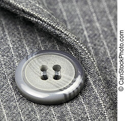 Button on a business suit