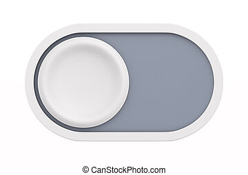 button on white background. Isolated 3D illustration
