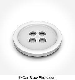 Button on White