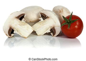 Button or champignon mushroom