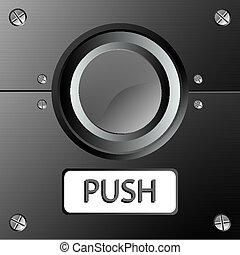 button panel, abstract vector art illustration