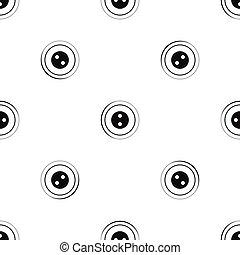 Button pattern seamless black