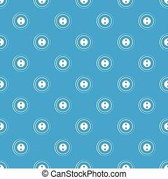 Button pattern seamless blue